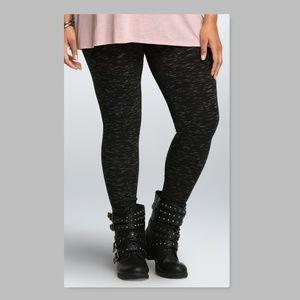 Torrid Premium Size 0 0X Black Space Dye Leggings